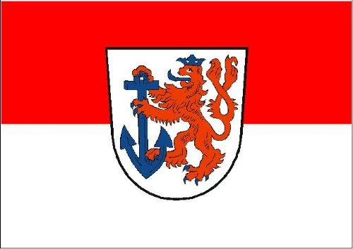 Fahne Flagge Stadt Düsseldorf Grösse 1,50x0,90m DD - FRIP –Versand®