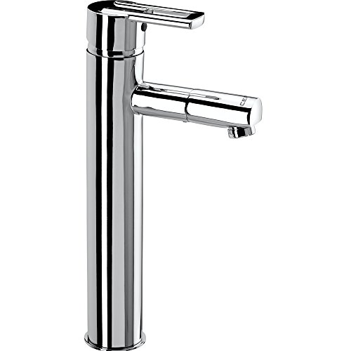 Cera Brass Topaz Single Leaver Fittings Single Lever Basin Mixer with 317mm/12.5-Inch Extended Height and 450mm/Braided Connection...