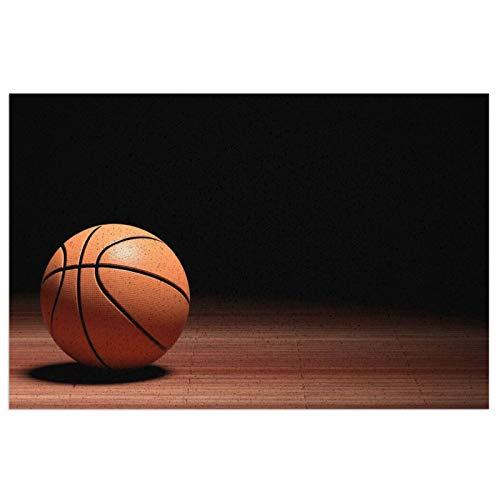 Felpudo de baloncesto, felpudo de bienvenida, felpudo, para exteriores, para entrada, antideslizante, alfombra lavable, para porche, cocina, entrada, 40 x 60 cm