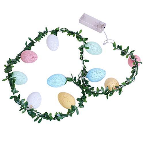 Osterei Ostern Lichter,ZHANSANFM 10 LEDs Oster Lichterkette Ostern String Licht Für Hochzeit Geburtstagsfeier Ostern Party Haus Dekoration als Stimmungslicht