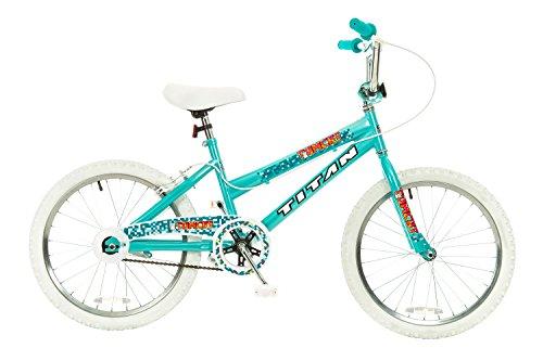 Titan Tomcat 20-Inch Wheel Girls BMX Bike with Pads, Teal Blue