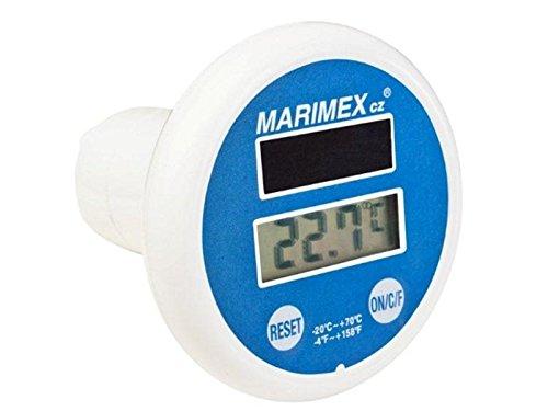 Marimex Solaire pour Piscine Thermomètre Digital, Blanc/Bleu, 12,5 x 10 x 18,5 cm, 10963012