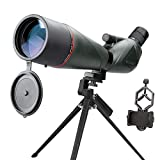 USCAMEL 20-60x80 HD Spotting Scope with Tripod and Smartphone Adapter Mount,BAK4 Prism Telescope