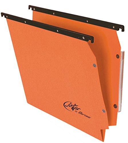 Bertesi confezione da 25 cartelline a sospensione per armadio classificatore a V, colore: arancione