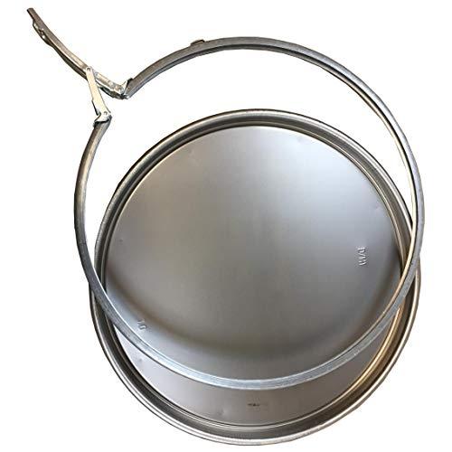 Fassdeckel & Spannring 57cm ROH für Blechfass Ölfass Tonne Metallfass 210 Liter