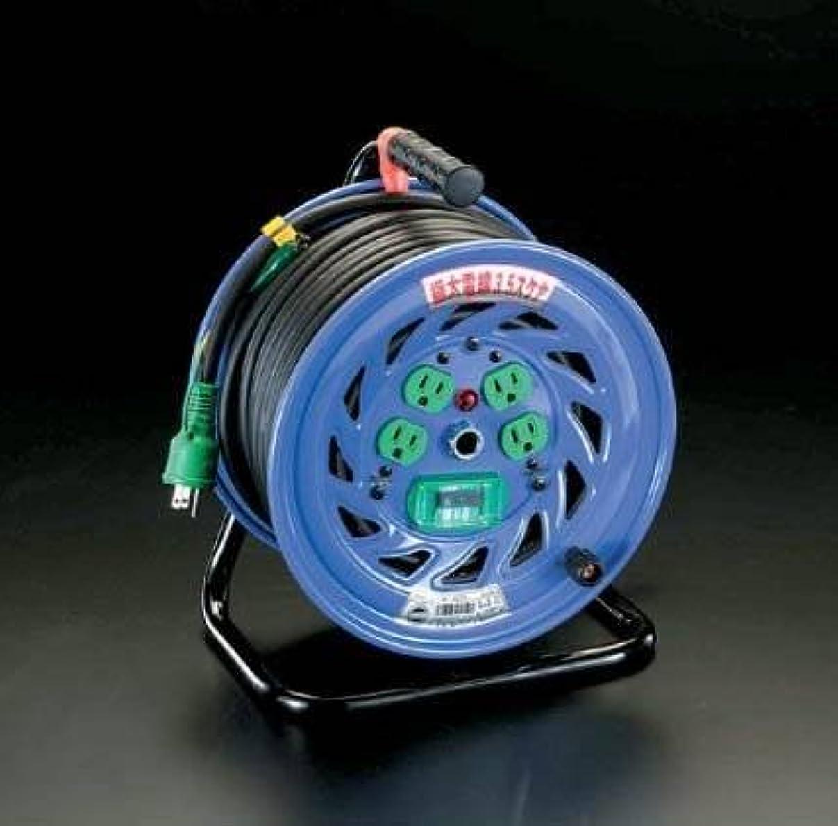 まもなく皿急いでエスコ AC125V/32A/30mコードリール(極太/漏電遮断) EA815DT-2