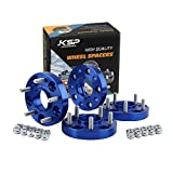KSP 5x114.3 Wheels Spacers Fit for G35 G37 350Z 370Z 240Sx 300Zx Altima,1'(25mm) Thickness 5x4.5 Hub Centric 66.1mm Thread Pitch 12x1.25 Studs for 5 Lug Wheels Blue