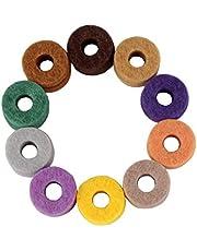 Baoblaze 20 Unids Colorido Fulares de Platillos Hi Sombreros Arandela Kits de Instrumentos Protectores Reserva