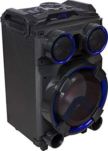 """IBIZA STANDUP12 MOBILE BESCHALLUNGSANLAGE 12\"""" BLUETOOTH USB SD RADIO FERNBEDIENUNG PARTY DISCO MUSIK LAUTSPRECHER DJ EVENT BÜHNE SOUNDSYSTEM"""