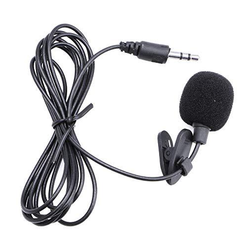 SimpleLife Lavalier Revers Clip auf Mikrofon-Lautsprecher Omnidirektionaler Kondensator 3,5-mm-Mikrofonclip für Laptop PC BK