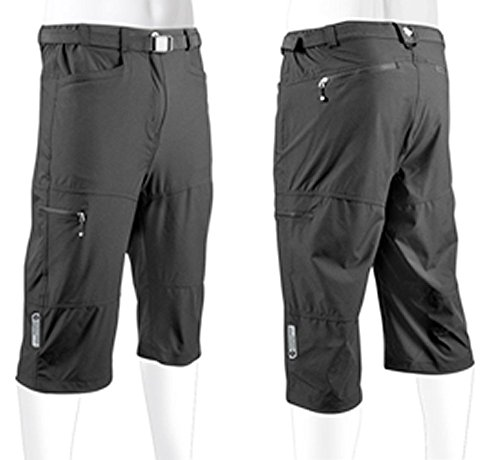 AERO|TECH|DESIGNS Men's Urban Pedal Pusher Knickers w Cargo Pockets Medium Black