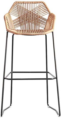 IAIZI Bar Stool Dining Chair Crafted van rotan | Rotan Wicker | Terras Outdoor meubels bouwplaats veranda tuin