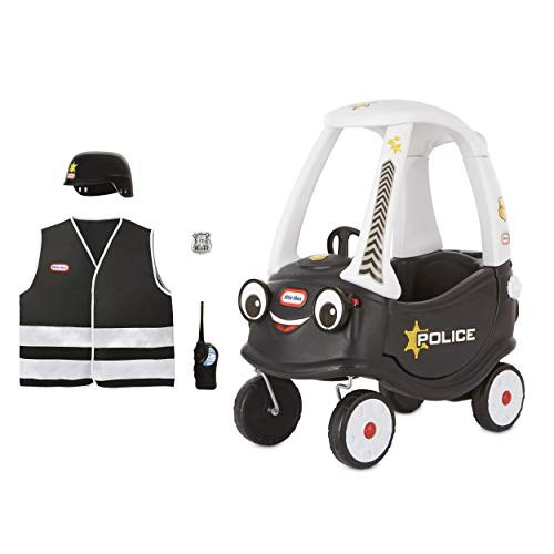 Little Tikes Police Cozy Coupe Themed Role Play Ride-On Toy, Multicolor