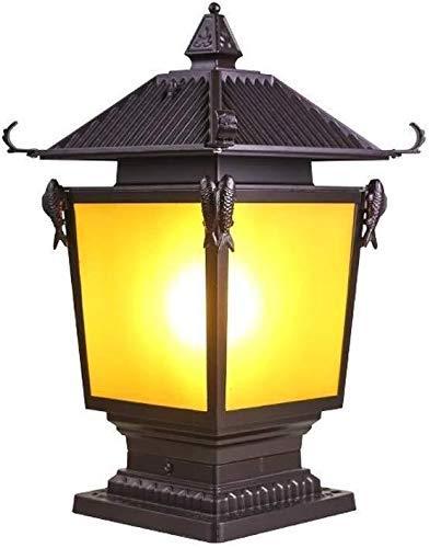 GBX Lichter für die Wand, Wandleuchte Licht Zaun Wand Lampe Post Villa Antique Garden Column Lampen Aluminium Körper Exquisite Glas Lampenschirm Aluminiumglas 63 × 40 cm Wandleuchten, Wandleuchten,