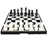 Jeu d'échecs/Dames/Backgammon 3 en 1, échiquier magnétique de Voyage Pliable Portable Hoshin pour Enfants, échiquier de Voyage, Jeu de société de brouillons, Jeux éducatifs - pour Les débutants