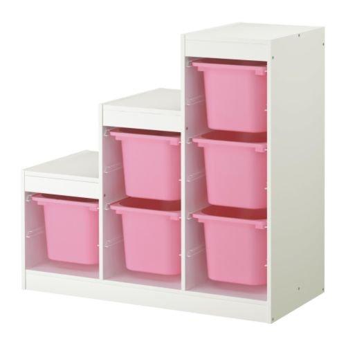 IKEA(イケア) TROFAST 09872994 収納コンビネーション, ホワイト, ピンク