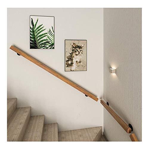 DDIAN Buche Handlauf Treppen Geländer Handläufer Treppengeländer Wandhandlauf Wandhalter Für Drinnen Und Draußen Treppenhaus,50cm