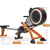 FYYDNR Rudermaschine, Fitnessausrüstung Trainingsmaschinen for den Heimgebrauch gebaut Räder zu Machen, ist leicht zu bewegen wenn Nicht in Gebrauch, 223 * 52 * 88cm - 2