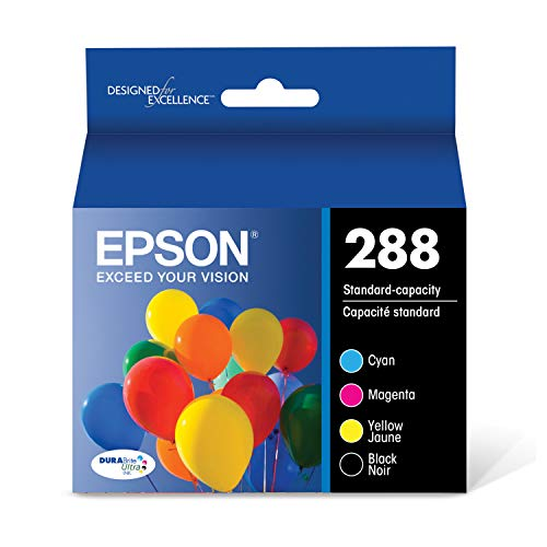 EPSON T288 DURABrite Ultra Ink Standard Capacity Black & Color Cartridge Combo Pack (T288120-BCS) for select Epson Expression Printers