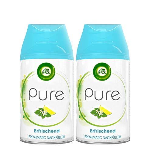 Air Wick Freshmatic Max PURE Raumspray – Nachfüller für den Air Wick Freshmatic Max – Duft: Erfrischend– 2 x 250 ml Nachfüller