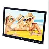Pillowcase 123 Marco de Fotos Digital resolución 1440 * 900, Reproductor de películas HD portátil HDMI de 15 Pulgadas, Reproductor de botón táctil de Reloj/música/Video/Calendario, Negro