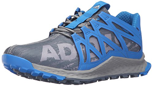 adidas Men's Vigor Bounce m Trail Runner, Grey/Onix/Shock Blue, 11.5 M US
