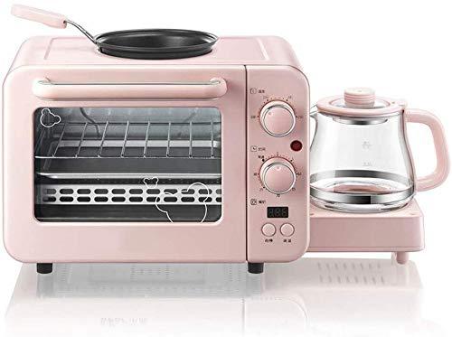 JUNJIJINGXIANG Mini Waffle Maker Multifunction Breakfast Machine Mini Household Electric Oven Cake Baking Fry Pan Warm Drinking Pot Toaster