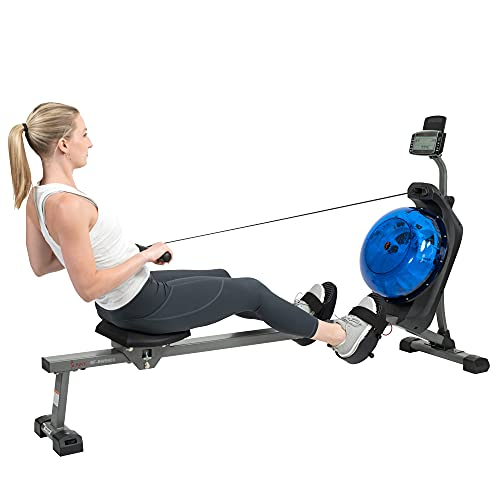 Sunny Health & Fitness Hydro+ Dual Resistance Magnetic Water Rowing Machine (Hydro+)