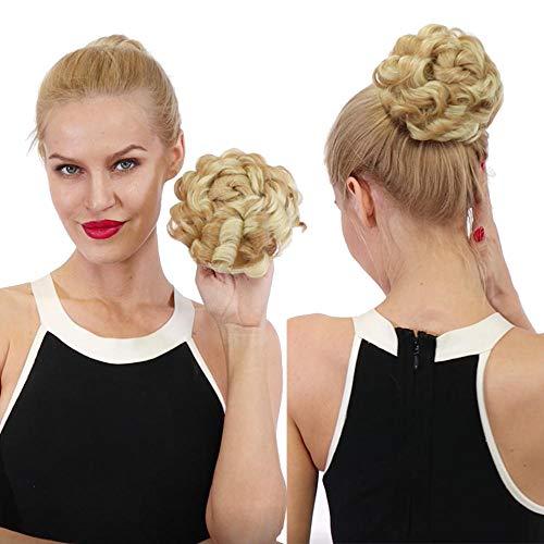 Cheveux Bouclés Synthétiques Big Bun Clip De Cordon En Donut Chignon Extension De Cheveux Femmes Faux Updo Cover Postiche 55G