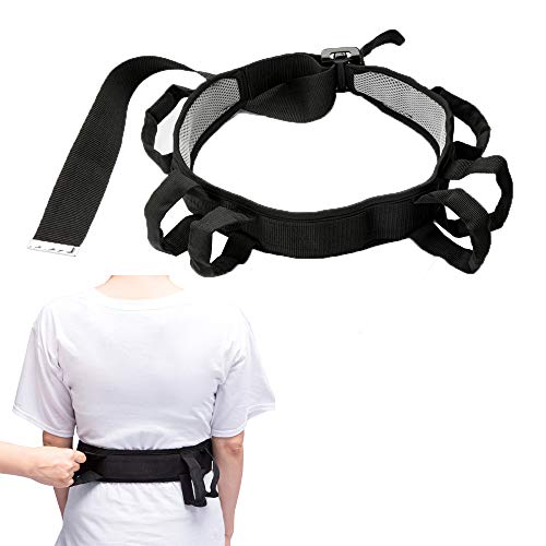 Transfer Belt with Handles, Lift Belt for Elderly, Medical Nursing Safety Gait Assist Device, Standing Aids & Supports - Quick Release Metal Buckle