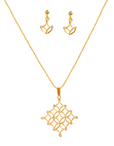 Touchstone Splendid Chapado en Oro del Colgante para Las Mujeres