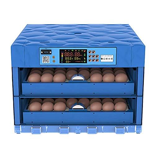ZCXBHD Incubadora de Huevos Y Nacedora 128 Huevos Automático Torneado Temperatura Humedad Controlar por Eclosión Aves De Corral Pollo Pato Paloma Codorniz