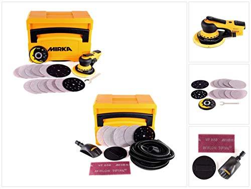 Mirka DEROS 5650CV Exzenterschleifer 125mm/150mm 5,0 Hub Brushless + Schleif Solution Case Set + Roundy Handblock + 40x Schleifscheiben
