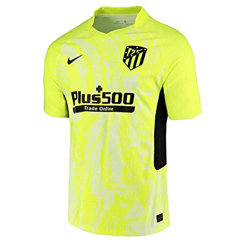 NIKE ATM M Vapor Mtch JSY SS 3R T-Shirt, Hombre, Volt/Black Full Sponsor, S