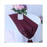 HETHYAN 結婚式の供給の装飾ファミリーパーティー用品アクセサリーテーブルランナーシフォンテーブルランナー (Color : 14, Size : 12 inch by 108 inch)