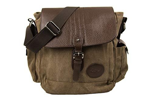 Airel aktetas, messenger, satchel tas, schoudertas, vintage afmetingen: 28 x 25 x 14 cm, unisex volwassenen, bruin, eenheidsmaat