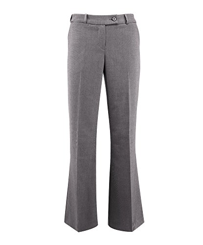 Alexandra Icona STC-NF13PG-26T Dames Bootleg Broek, Plain, 77% Polyester/21% Viscose/2% Elastaan, Tall, Maat 26, Lichtgrijs