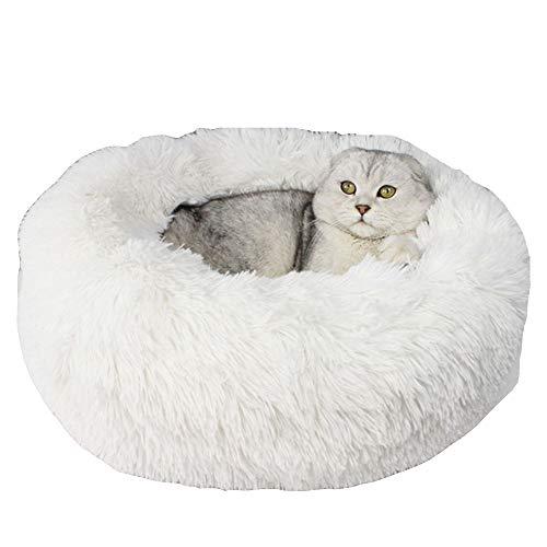 XYBB huisdierbed pluche kattenmat huisdier bed hondensofa matten huis voor kat pluche kleine hondst warm slaapbed, 20*100cm, wit