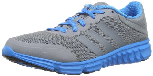 adidas Performance Breeze 303Evo Xj D66694, Unisex - Kinder Sportschuhe - Fitness, Grau (TECH GREY F12 / SOLAR BLUE2 S14 / BLACK 1), EU 31