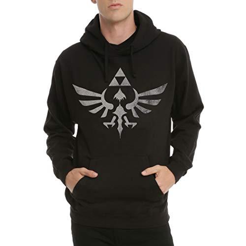 Animation Shops Legend of Zelda Triforce Symbol Hoodie-Large Black