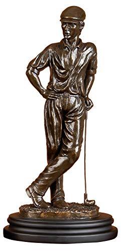 Deco 79 - Golfista de Poli-Tono, 40,6 x 20,3 cm