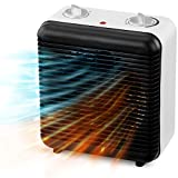 NETTA Fan Heater Electric Upright 2000W Portable Mini Heater With Two Heat Settings,Thermostat