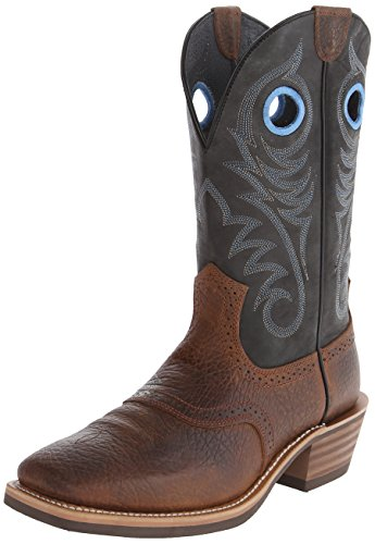 Ariat Men's Heritage Roughstock Western Cowboy Boot, Earth/Vintage Black, 13 D