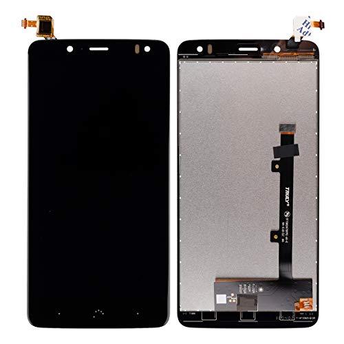 Pantalla LCD compatible con BQ Aquaris V Plus/VS Plus Negro (sin marco), pantalla táctil, digitalizador, cristal de montaje + herramientas