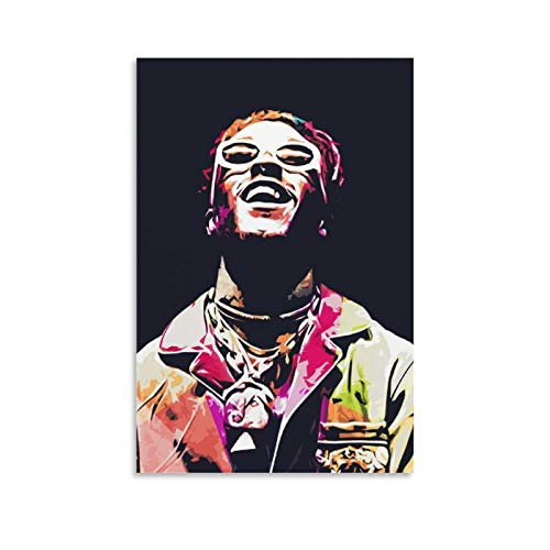 Póster artístico de A Rapper Hip Hop Lil Uzi Vert 12 y póster de pared moderno para decoración de dormitorio familiar, 40 x 60 cm