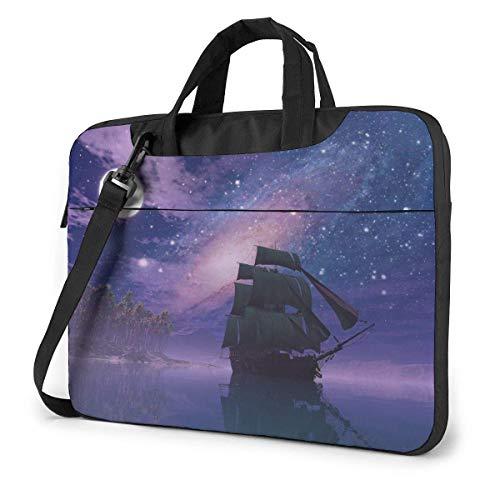 IUBBKI Laptop Case Computer Bag Sleeve Cover Sails in The Moonlight Waterproof Shoulder Briefcase 13 14 15.6 Inch