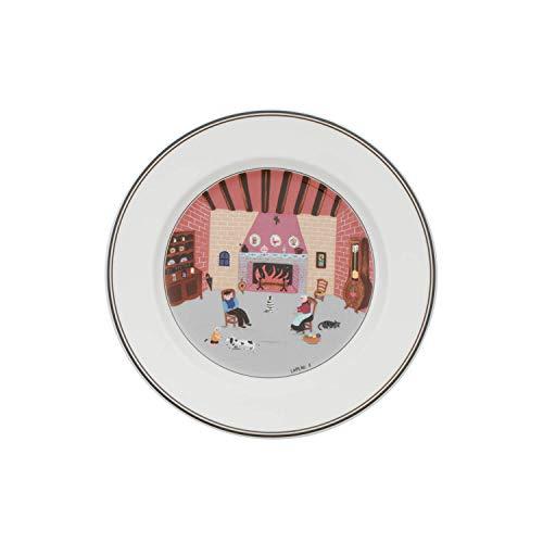 Villeroy & Boch Design Naif Frühstücksteller Kamin, Premium Porzellan, 21 cm