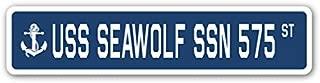 USS Seawolf SSN 575 Street Sign us Navy Ship Veteran Sailor Gift