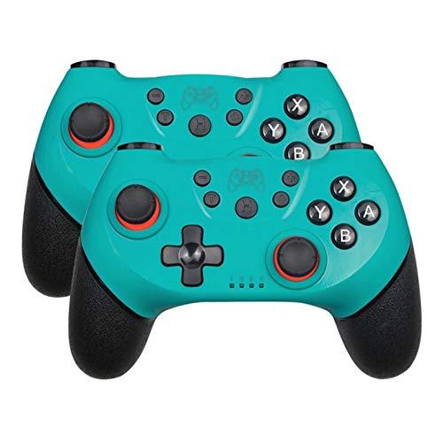 BHPP KPBHD Inalámbrica Bluetooth Gamepad Juego de la Palanca de Mando for Nintendo Interruptor Pro, conmutador de Consola con la manija de 6 Ejes (Color : Green 2)