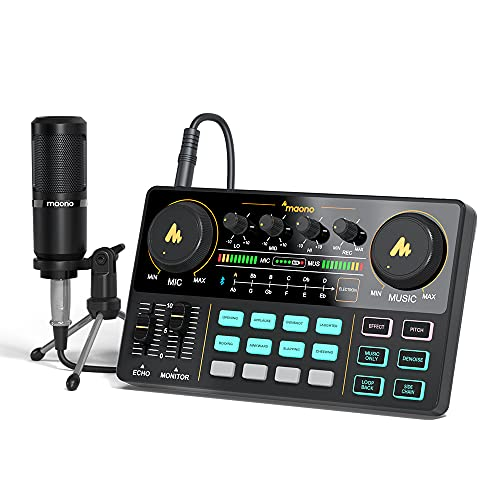 Audio Interface with DJ Mixer and Sound Card,...